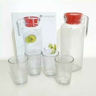 Teko Set Kimglass Kaca 4in1