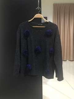 Zara Dark Grey Sweater (Size S)