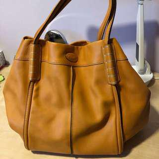 Tods Leather bag orange colour