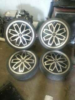 17 inch Sakura Sport Rim K-car with tyre