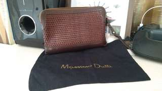 Massimo Dutti leather clutch