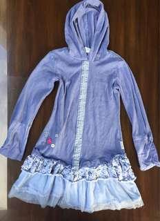 Dress with hoodie