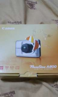 Camera canon a800