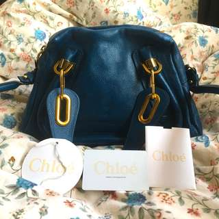 Authentic Chloe Paraty Leather Small Bag