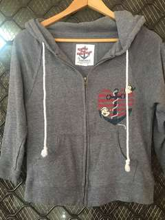 Forever 21  gray hoodie (fits small-semi large)