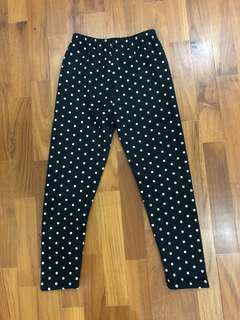 Polka Dots Winter Leggings