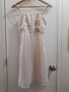 Ecru Chiffon Dress (with Bolero)