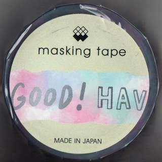 Mind Wave - Washi Masking Tape (My Cotton Candy Design) - Silver Foil Wordings