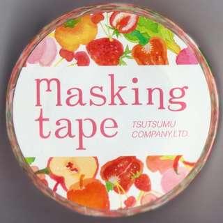 Tsutsumu Masking Tape - Colorful Food Series (Design 1)