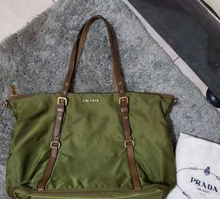 Autjentic Prada Tessuto Saffiano Shoulder Bag