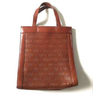PLOVED: Vintage Leather Tote Bag