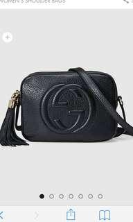 Gucci soho bag black preorder