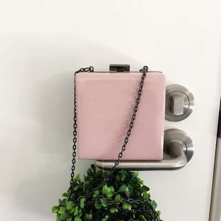 ASOS mini pink clutch bag 10cm x10cm