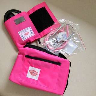 BP Apparatus - Aneroid Sphygmomanometer & Stethoscope (Pink)