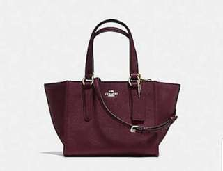 Coach mini crossgrain leather