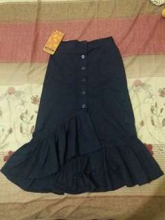 Zara Ruffle Skirt Alike Navy