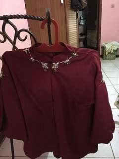 Baju kondangan, blouse, bagus, bahan adem, elegan, gapernah dipakai karna kebesaran