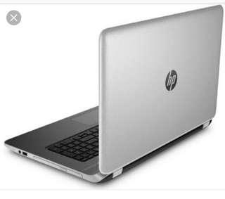 HP pavilion silver laptop