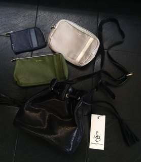 🇯🇵TAKE ALL ✨ Brandnew Sling Bag & Three-Piece Pouch / Wallet Set from Japan 🇯🇵
