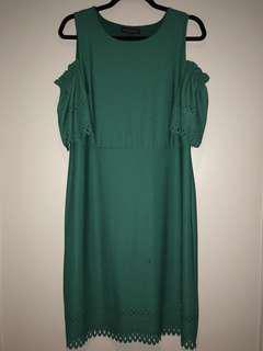 Eyelet Off the Shoulder Dress (S)