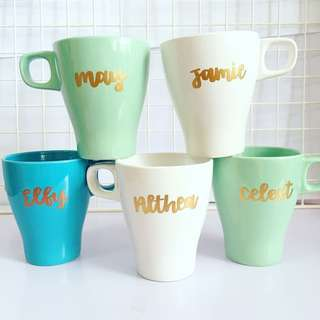 Customisable cup calligraphy anniversary farewell event Day gift gifts present presents Friend friends birthday Mugs Mug teacher Teachers office customised company graduation Colleagues Colleague wedding Personalised corporate cups teacher's teachers'