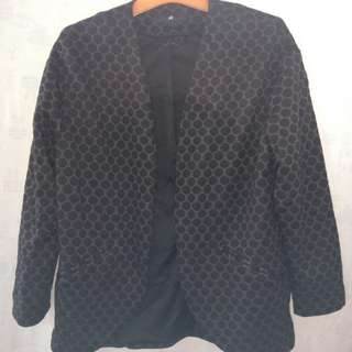 Women Blazer with polka dot pattern