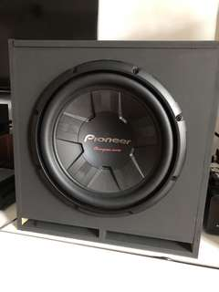 DIY pioneer 12 inch sub with enclosure for sale