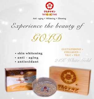 24k Gold Glutathione soap 150g.