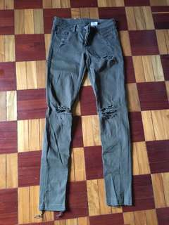 H&M army green pants