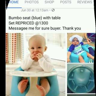 Bumboseat with table