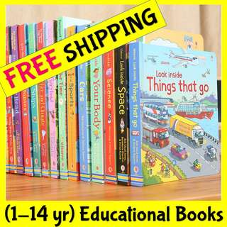 ★More than 70 Titles FREE GIFTS★Original Usborne Hardcover Children Kids English Facts Books★Lift the Flaps★Look/Peep/See Inside★1000 Animals/English Words★Educational Enrichment 3D Encyclopedia★Fiction Birthday Xmas Gift Kids Phonics General Knowledge