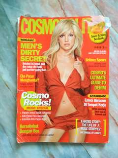 Majalah cosmopolitan bekas prelove preloved woman magazine for clipping and other