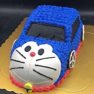 多啦A夢車 叮噹 蛋糕 兩磅