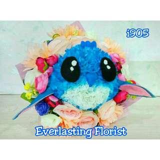 Bucket Stitch (i905) Buket Bunga Boneka Kelinci Bouquet Wedding Wisuda Engaged Proposed Valentine Anniversary Kado Hadiah Unik