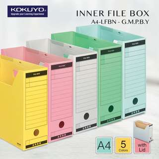 KOKUYO A4-LFBN FILE BOX (WITH LID) (5 Color Available)