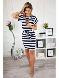 Stripes Mini Dress 373 JPN