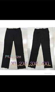 Women's slacks 🎆 Php 380  High waist Not stretchable  black only Size XL,2XL ,3XL ,4XL  *c.t