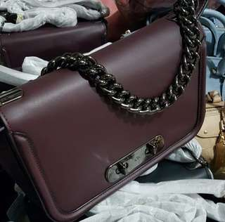 Coach Swagger Shoulder 25cm Oxblood