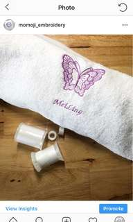 Personalised Embroidery towel (kids birthday goodie bag, Teacher's Day gift, corporate gift)
