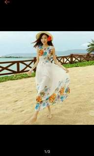Floral Summer Dress (Ships in 3-5days)