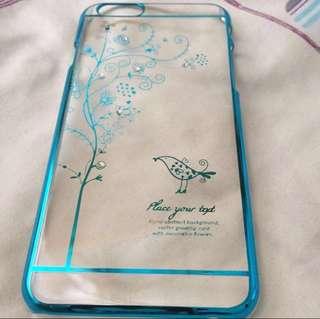 (包平郵) 超靚藍色 iPhone 6 小鳥手機殻 硬殼 case
