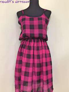 NEW! Flowy Checkered Dress