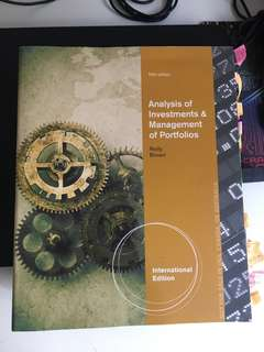 Analysis of Investment and Management of Portfolios textbook