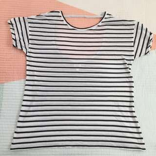 SEED TEEN Striped Tee - Black/White