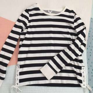 SEED TEEN Striped Jumper - Black/White