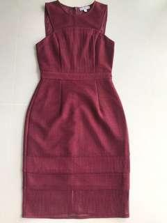 LoveBonito Maroon Dress