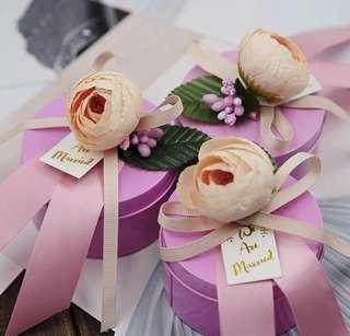 Rose Bud Premium Tin Wedding Favor (Pink)