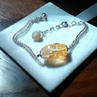 🚚 925天然黃水晶手鍊