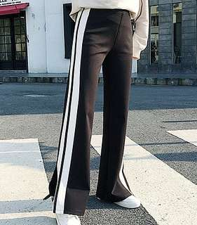 Side Stripe Culottes Pants (S-4XL) 096280 JPN