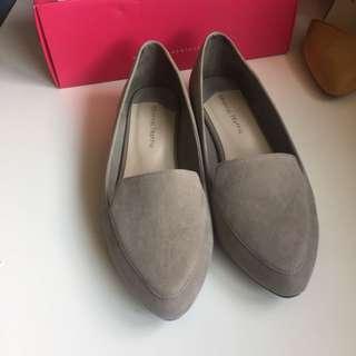 🚚 oriental traffic淺灰色樂福平底鞋